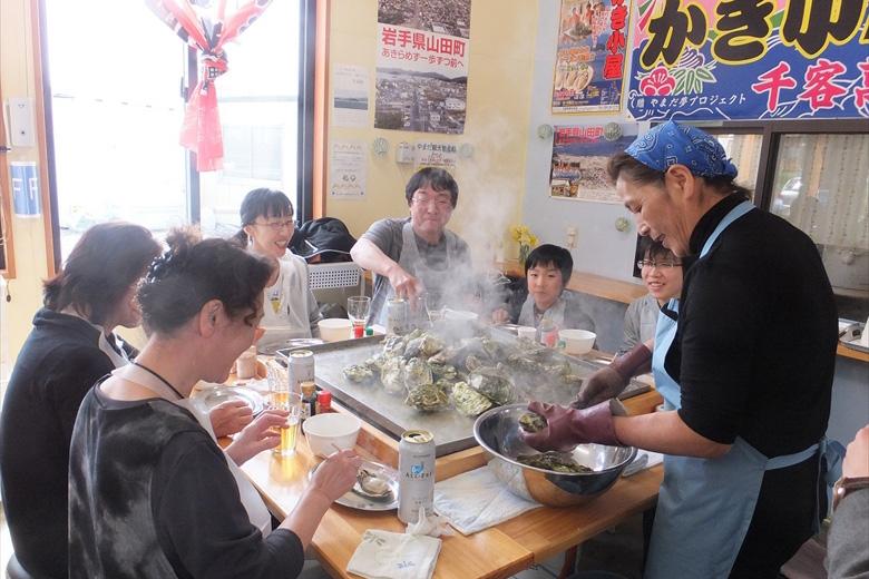 三陸山田牡蠣小屋